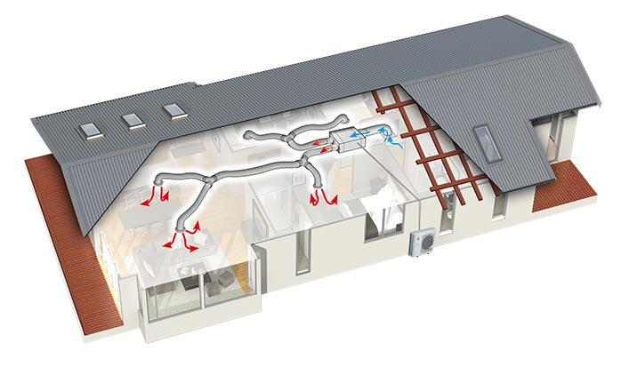 ducted heat pump system cost
